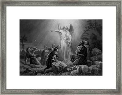 Gabriel Announcing The Birth Of Jesus Framed Print by War Is Hell Store