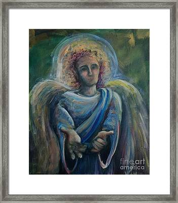 Framed Print featuring the painting Gabriel by Lisa DuBois