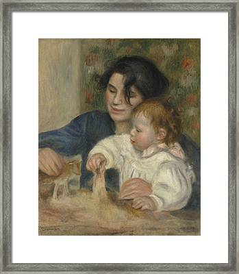 Gabrielle And Jean Framed Print by Auguste Renoir