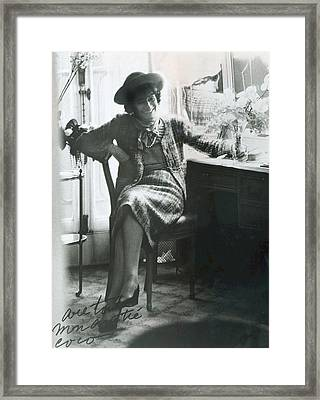 Gabrielle Coco Chanel, C. Mid 1960s Framed Print by Everett
