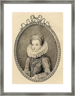 Gabrielle D Estrees, Duchess Of Framed Print by Vintage Design Pics