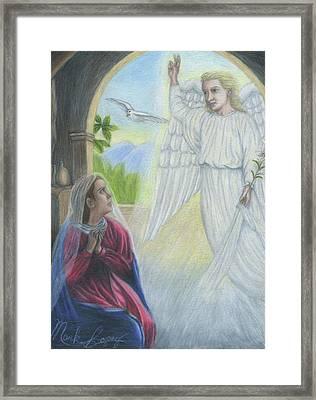 Gabriel's Revelation Framed Print