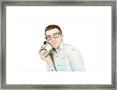 Gadget Geek With Product Satisfaction Framed Print by Jorgo Photography - Wall Art Gallery