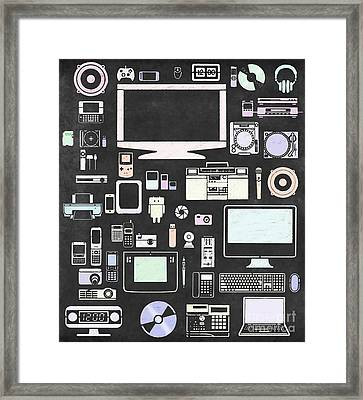 Gadgets Icon Framed Print