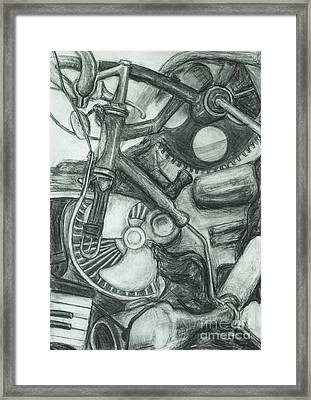 Framed Print featuring the drawing Gadgets Of Sorts by Angelique Bowman