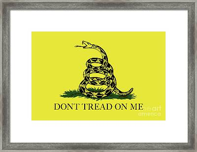 Gadsden Dont Tread On Me Flag Authentic Version Framed Print