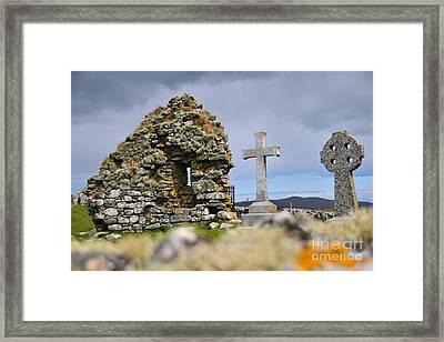 Gaelic Headstone Framed Print by Nichola Denny