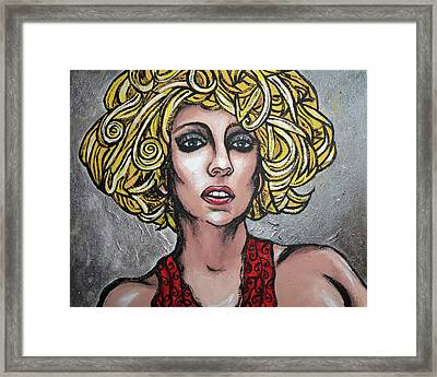 Framed Print featuring the painting Gaga by Sarah Crumpler