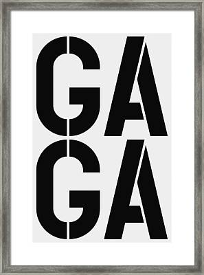 Gaga Framed Print by Three Dots