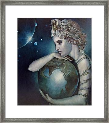 Gaia Framed Print by Geraldine Arata