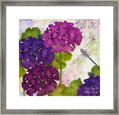 Gaia II Geraniums Framed Print by Mindy Sommers