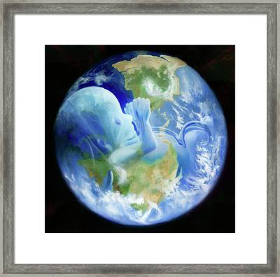 Gaia Framed Print by Kd Neeley