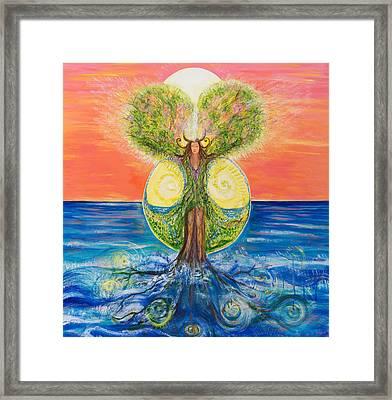 Gaia Rising Framed Print