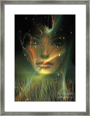 Framed Print featuring the digital art Gaia by Shadowlea Is
