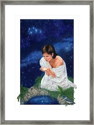 Gaian Tarot Star Framed Print by Joanna Powell Colbert
