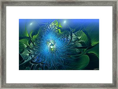Gaia's Emergence Framed Print by Casey Kotas