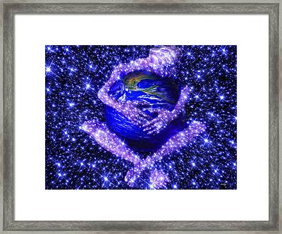 Framed Print featuring the painting Gaia's Love by Robby Donaghey