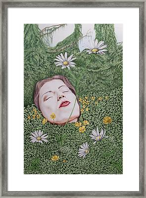 Gaia's Slumber Framed Print