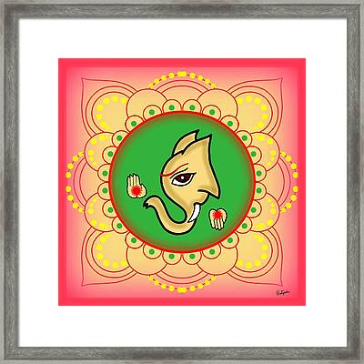 Gajavaktra Framed Print