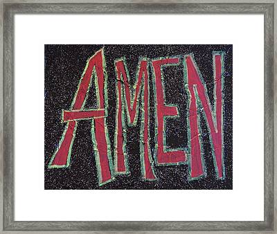 Galactic Amen Framed Print by Adrianna Stepiano