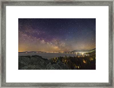 Galactic Breath Framed Print by Jeremy Jensen