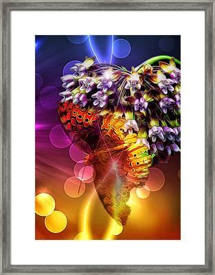 Galactic Butterfly Effect Framed Print by Bill Tiepelman