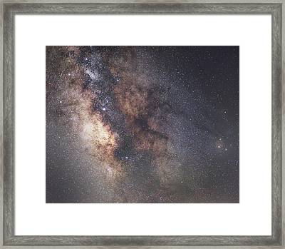 Galactic Core Framed Print by Matt Smith