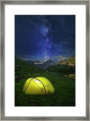 Galactic Eruption Framed Print