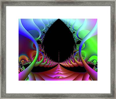 Galactic Launchpad Framed Print
