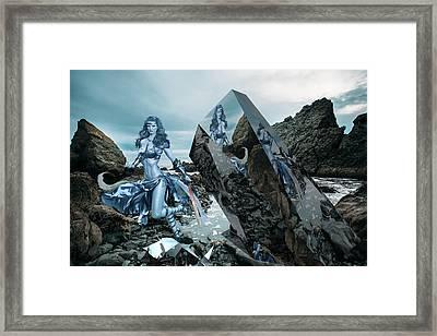 Galactic Mermaid Framed Print