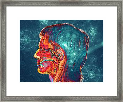 Galactic Mind Framed Print by Bear Welch