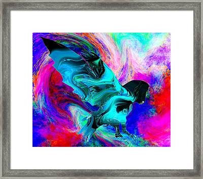 Galactic Owl Framed Print by Abstract Angel Artist Stephen K