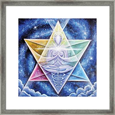 Galactic Starseed Goddess Framed Print by Tiffany Davis-Rustam