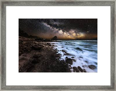 Galactic Warmth Framed Print by Nick Venton