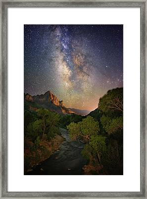 Galactic Watchman Framed Print