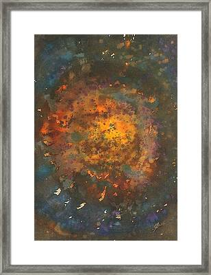 Galactica Original Painting Framed Print by Sol Luckman