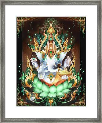 Galactik Ganesh Framed Print by George Atherton