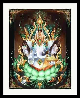 Tibetan Buddhism Digital Art Framed Prints