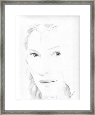 Galadriel Framed Print by Amy Jones