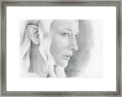 Galadriel The Fair Lady Of The Forest Framed Print