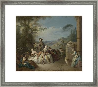 Galante In A Landscape Framed Print by MotionAge Designs