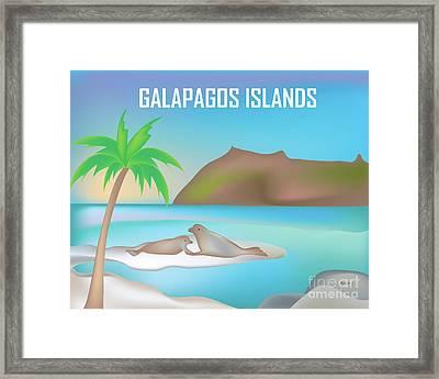 Galapagos Islands Horizontal Scene Framed Print