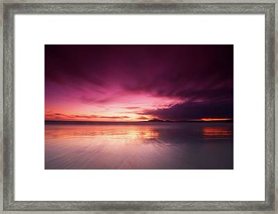 Galapagos View At Sunset Framed Print by Andre Distel Photography