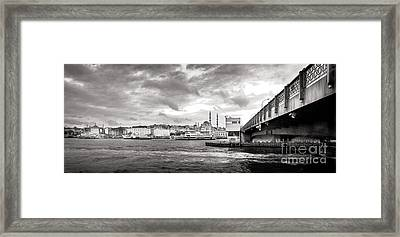Galata Bridge Framed Print by Kadir Murat Tosun