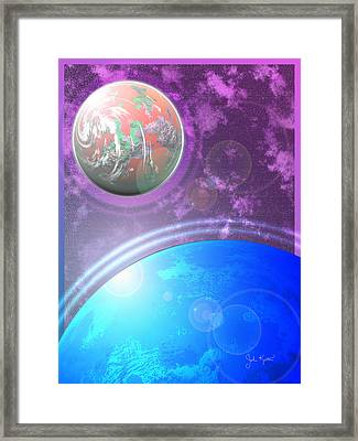 Galaxy 4 Framed Print by John Keaton