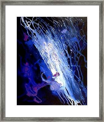 Galaxy Abstract4of4 Framed Print by Teo Alfonso