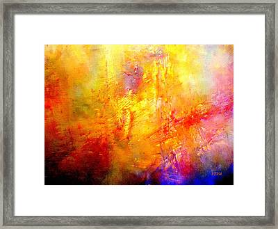 Galaxy Afire Framed Print