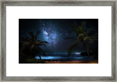 Galaxy Beach Framed Print