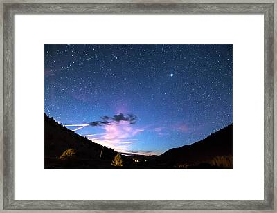 Galaxy Gazing Framed Print by James BO Insogna