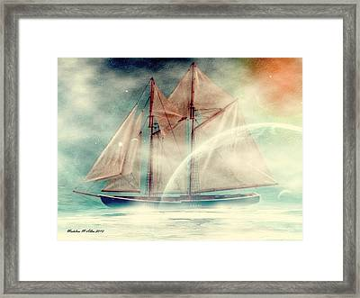 Galaxy Ghost Framed Print by Madeline  Allen - SmudgeArt